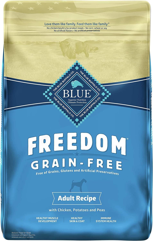 Blue Buffalo Freedom Grain Free Natural Adult Dry Dog Food, Chicken 24-lb