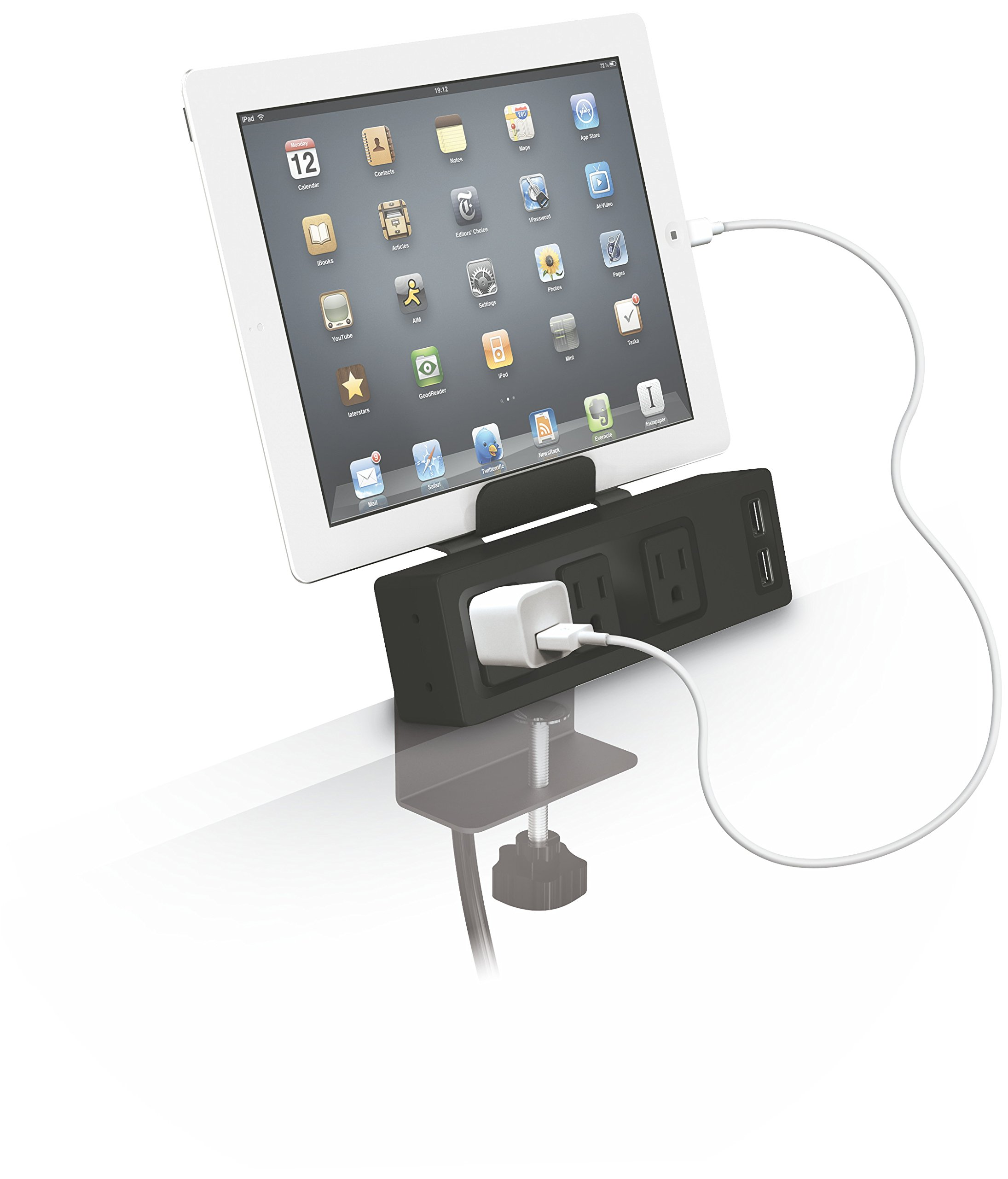Balt Table Clamp Mount Power Outlet & USB Charger (66675) by Balt