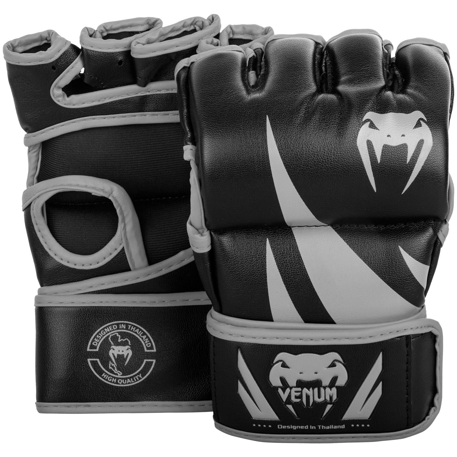 Venum Challenger MMA Gloves - Without Thumb - M, Black/Grey, Medium by Venum