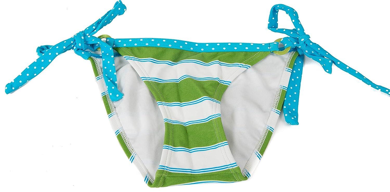 Amazon Com Hula Honey Womens Swim Bottoms Striped Blue Green White