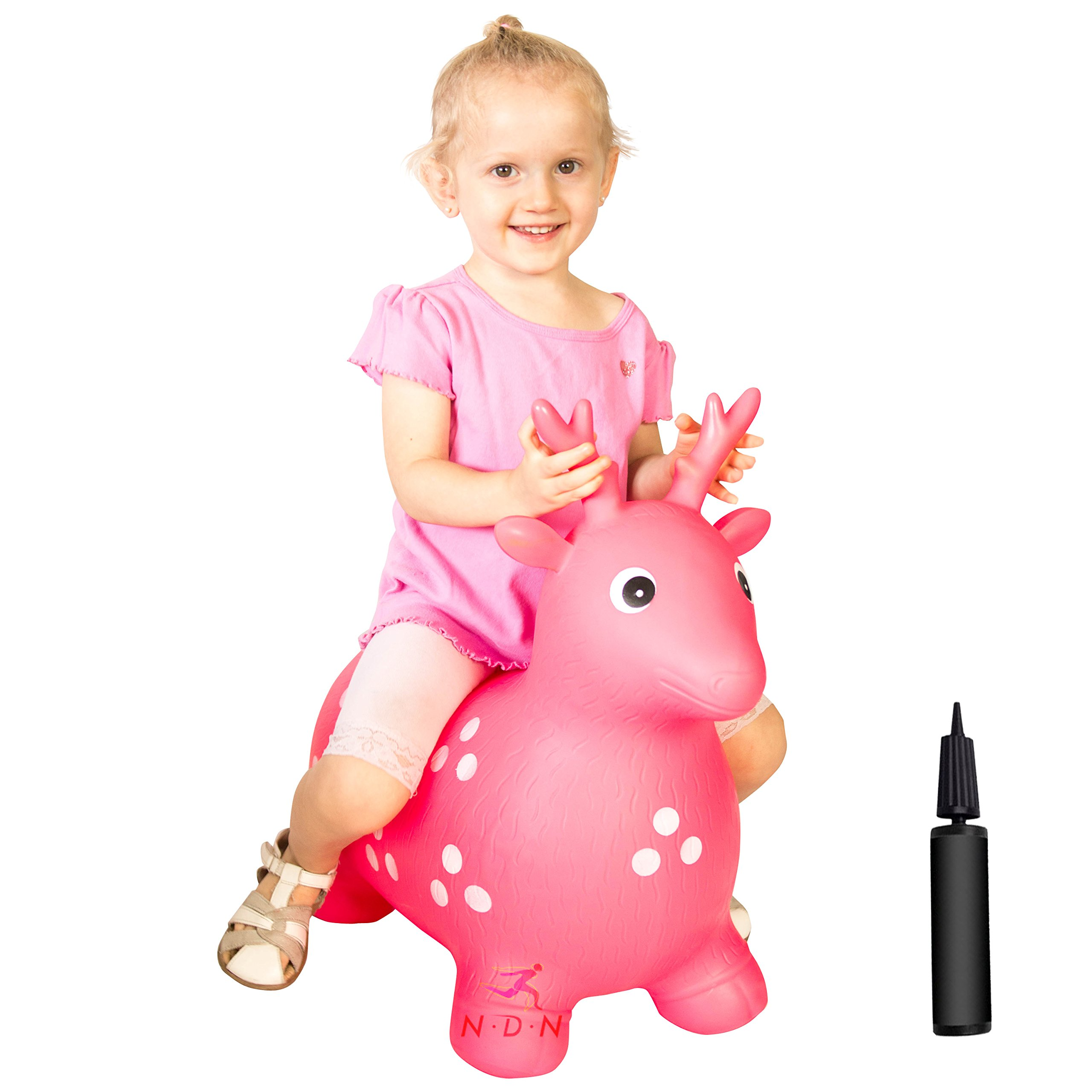 NDN LINE Bouncy Animal, Bouncy Horse Inflatable with Pump