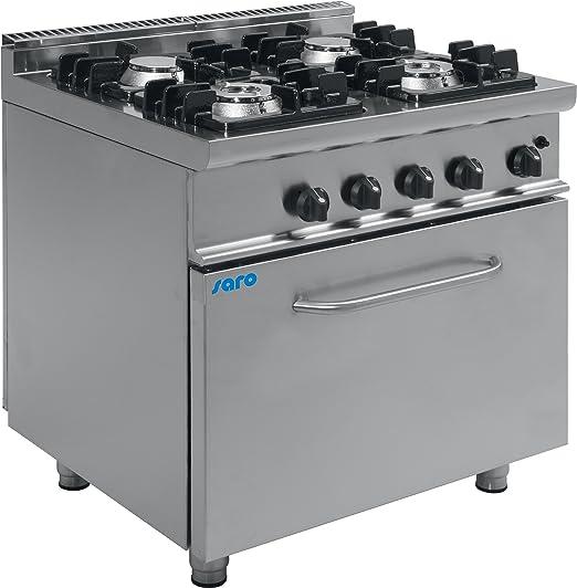 Cocina de gas 4 luces Horno de gas/KUPG4LO SARO-E7: Amazon.es: Hogar