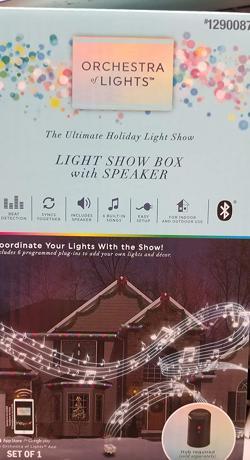 Holiday Gemmy LightShow Music Box with Speaker