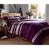 100%Ã' Brushed Cotton, FLANNELETTE Duvet Cover Set ,ThermalÃ' bedding, Double -Ã' OMEGA PURPLE by EDS