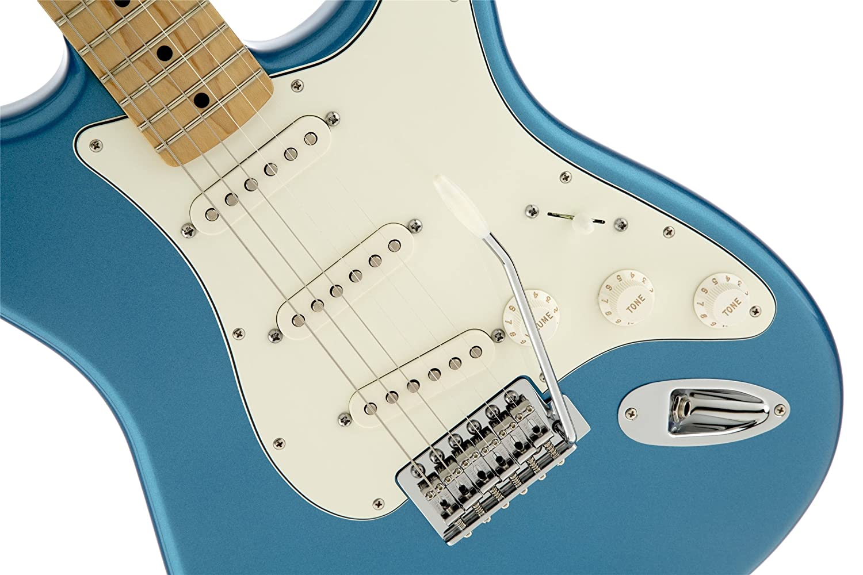 Amazon.com: Fender Standard Stratocaster Electric Guitar, Lake ...