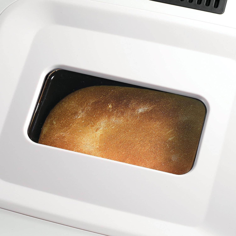 Morphy Richards 48326 Color blanco 600W - Panificadora (Color blanco, 907,2 g, Pan de dieta, Masa, Pan de trigo, 453,6 g, Oscuro, Luz, Medio, ...