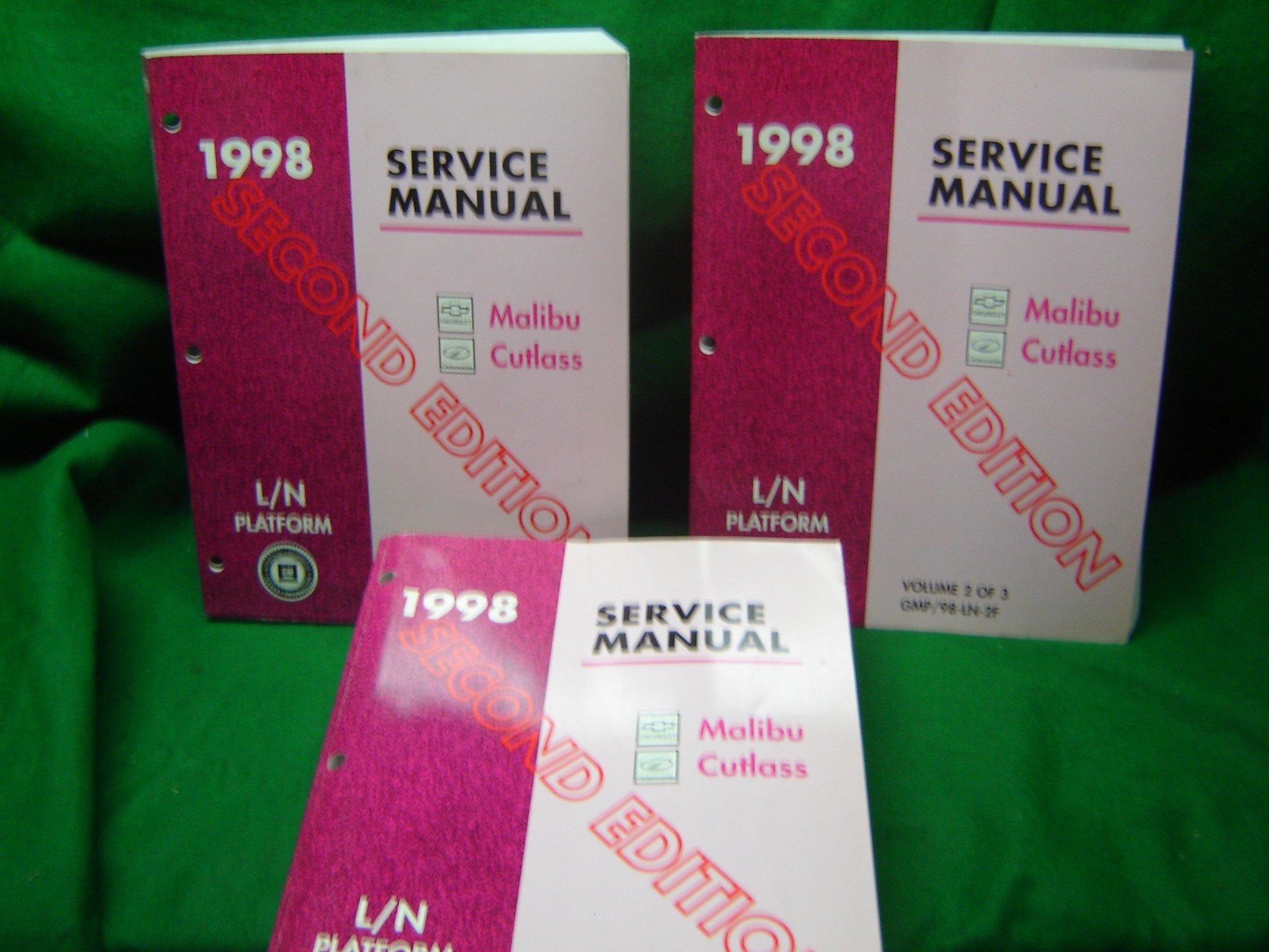 1998 Service Manual Chevrolet Malibu and the Oldsmobile Cutlass (Volumes 1-3):  General Motors: Amazon.com: Books