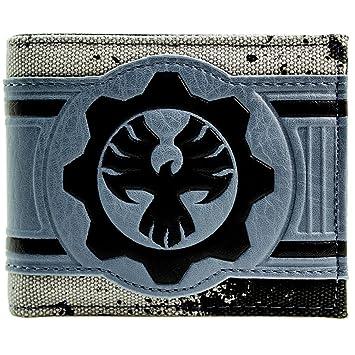 Gears Of War Phoenix Omen Symbol Grey Coin Bi Fold Wallet Amazon