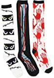 Boo! Women's Halloween Theme Socks, Knee Highs (3Pr), One Size