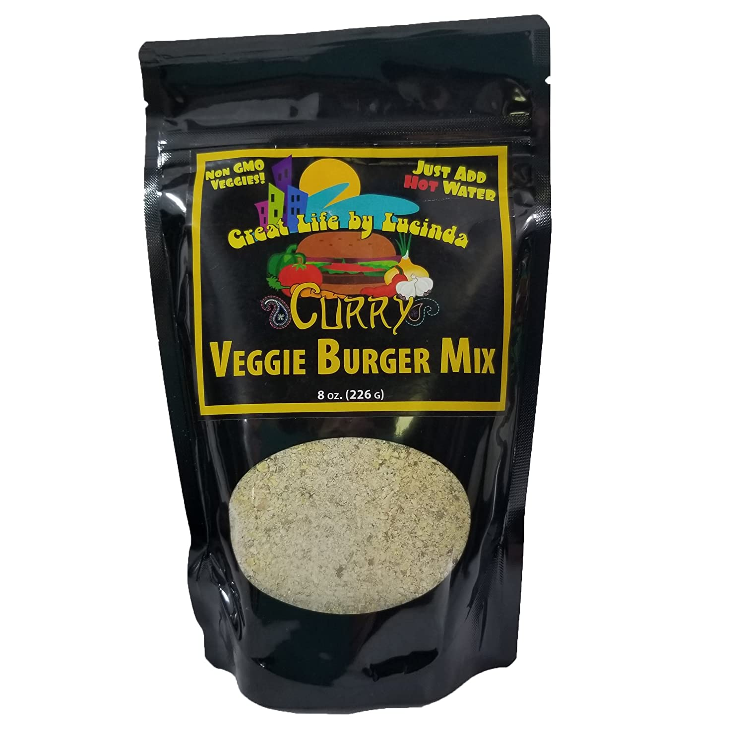 B00B41C1MO Great Life By Lucinda Naturally Vegan Curry Instant Veggie Burger Mix (Set of 2) by Great Life by Lucinda 811VbE4vrlL