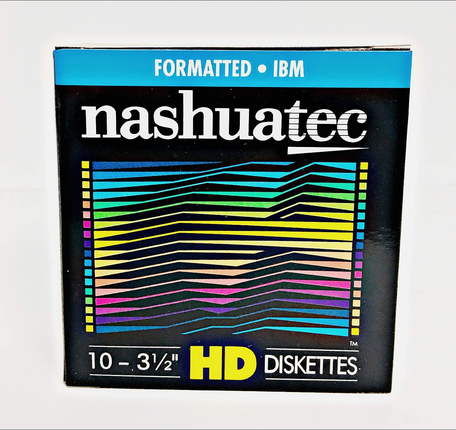 New Nashuatec High Density HD 2-Sided 3.5 Diskette IBM Formatted 10 Diskettes Per Pack for storage data.