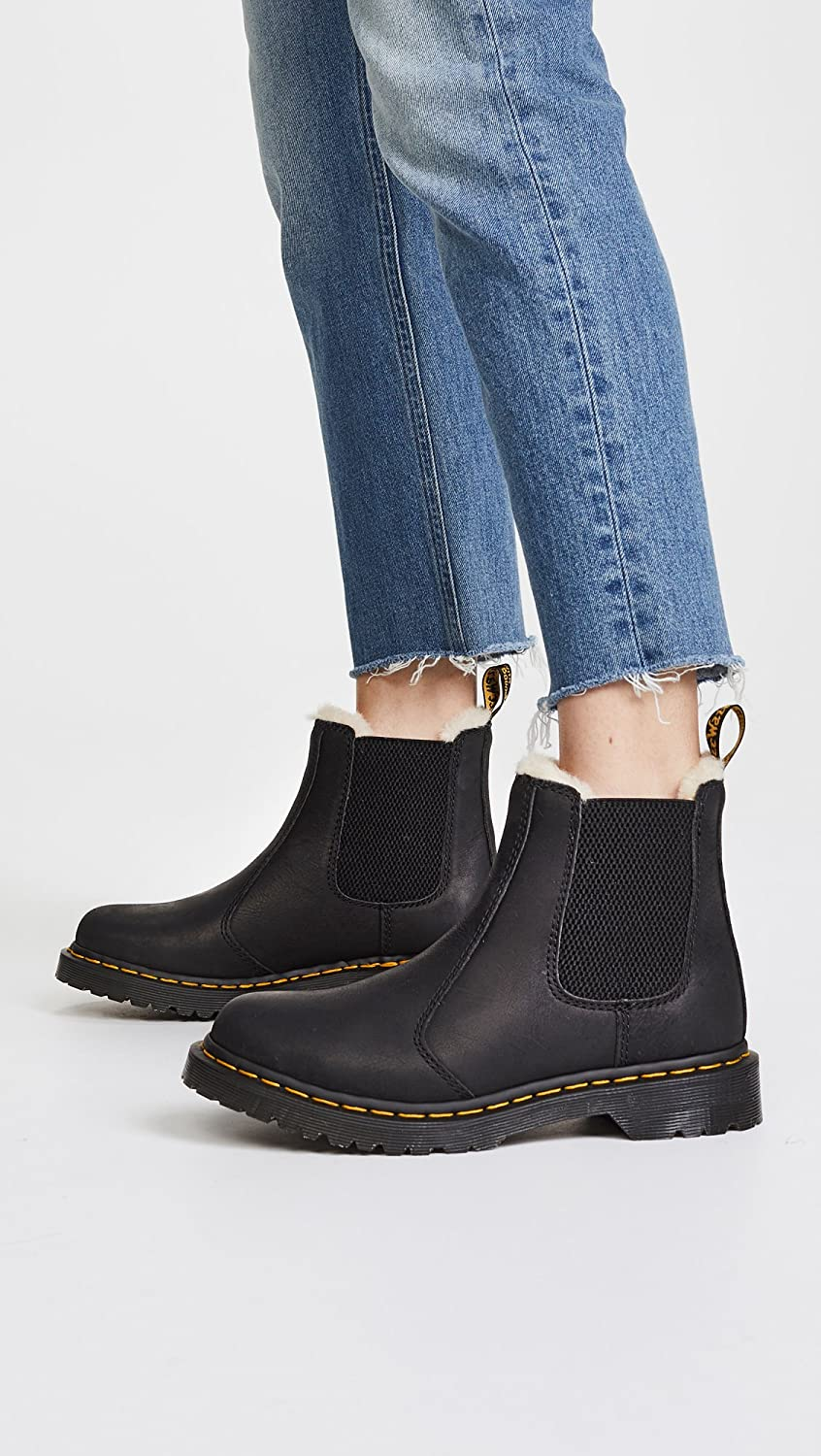   Dr. Martens Women's Leonore Burnished Wyoming Leather Fashion Boot   Mid-Calf