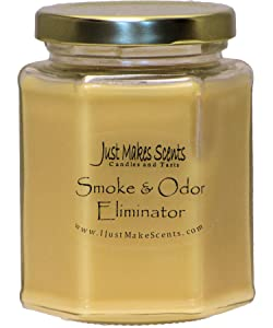 Smoke & Odor Eliminator Blended Soy Candle | Neutralizes Cigarette, Food and Pet Odors | Hand Poured in The USA by Just Makes Scents