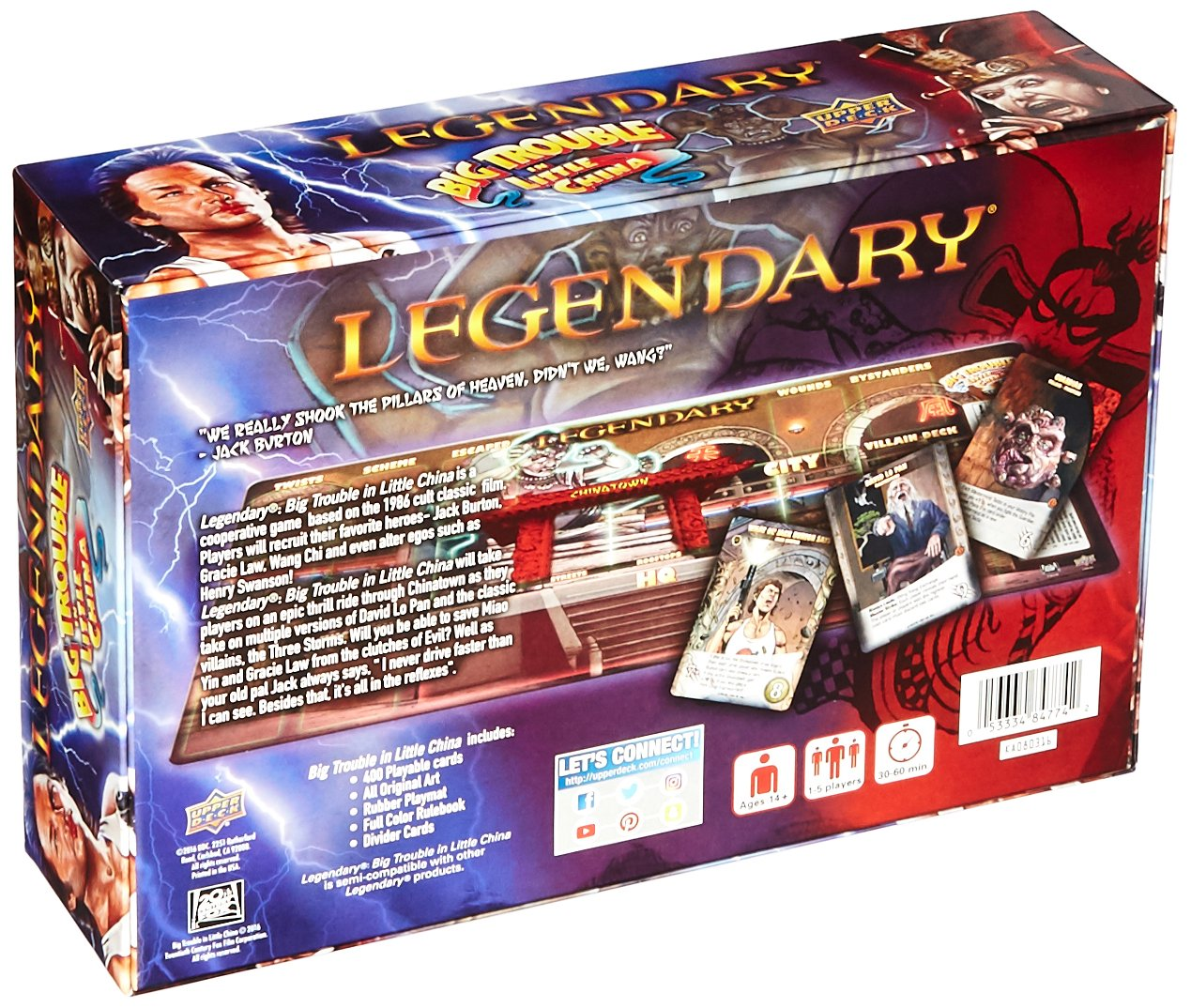 Upper Deck Legendary Big Trouble in Little China Board Game Upper Deck Company