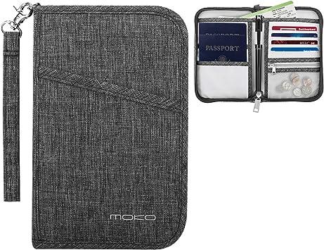 PU Leather RFID Blocking Passport Holder Cover Case Travel Wallet Cards Tickets Holder
