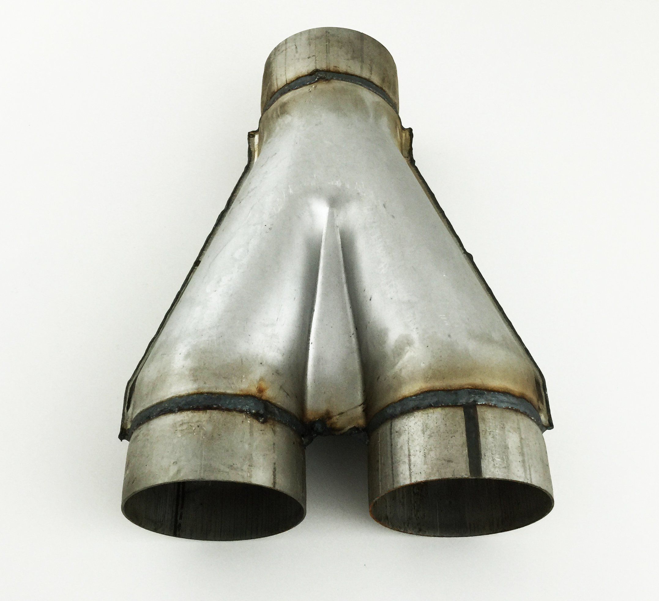 Diesel Exhaust Stamped Y Pipe 4.00'' Diameter Single Inlet to 4.00'' Diameter Dual Outlets WSYP400-400 Wesdon Exhaust Stamped Y Pipe