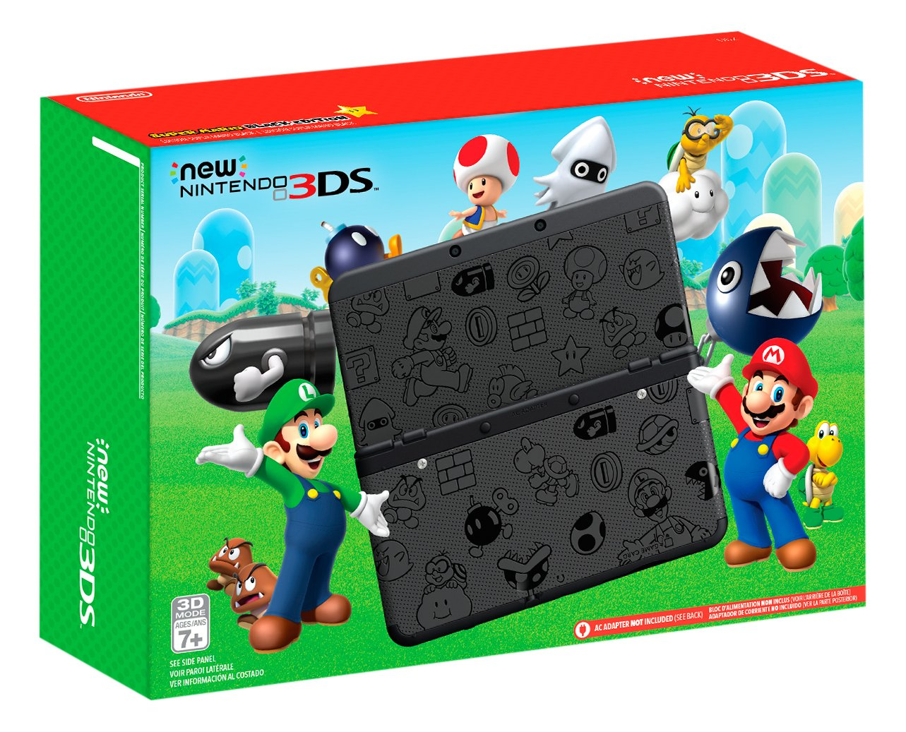 Nintendo New Nintendo 3DS Super Mario Black Edition - Nintendo 3DS by Nintendo