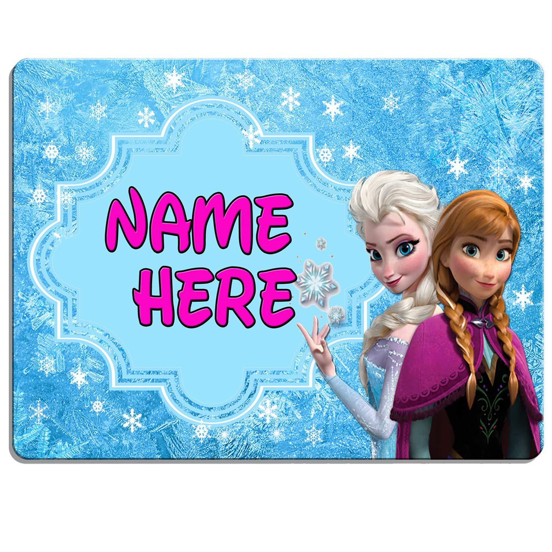 KRAFTYGIFTS FROZEN Girls Bedroom Door Sign Personalised Childrens Child Room Kids Plaque Name KD31
