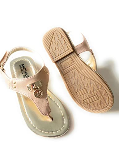 37ae6a762e27 Amazon.com  Michael Kors Michael Rose Gold Thong Toddler Girls ...