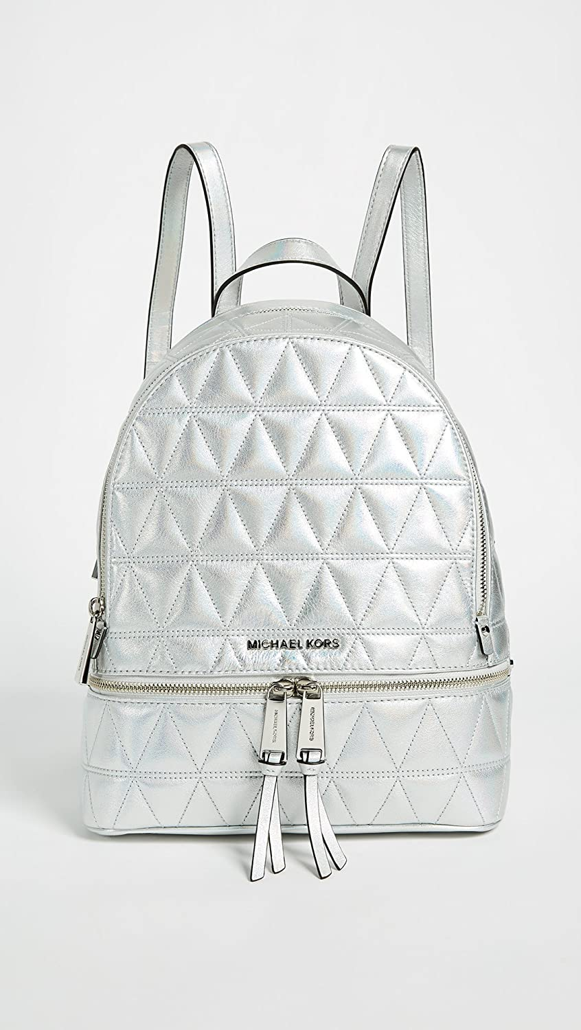 3bdf09ed3add Amazon.com | MICHAEL Michael Kors Women's Rhea Zip Backpack, Silver, One  Size | Casual Daypacks