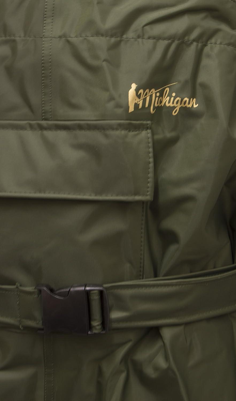 Waders de p/êche avec ceinture Michigan olive taille 39,5 /à 47 100/% nylon//imperm/éable