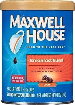 3-Pack Maxwell House Breakfast Blend Ground Coffee, 11 oz