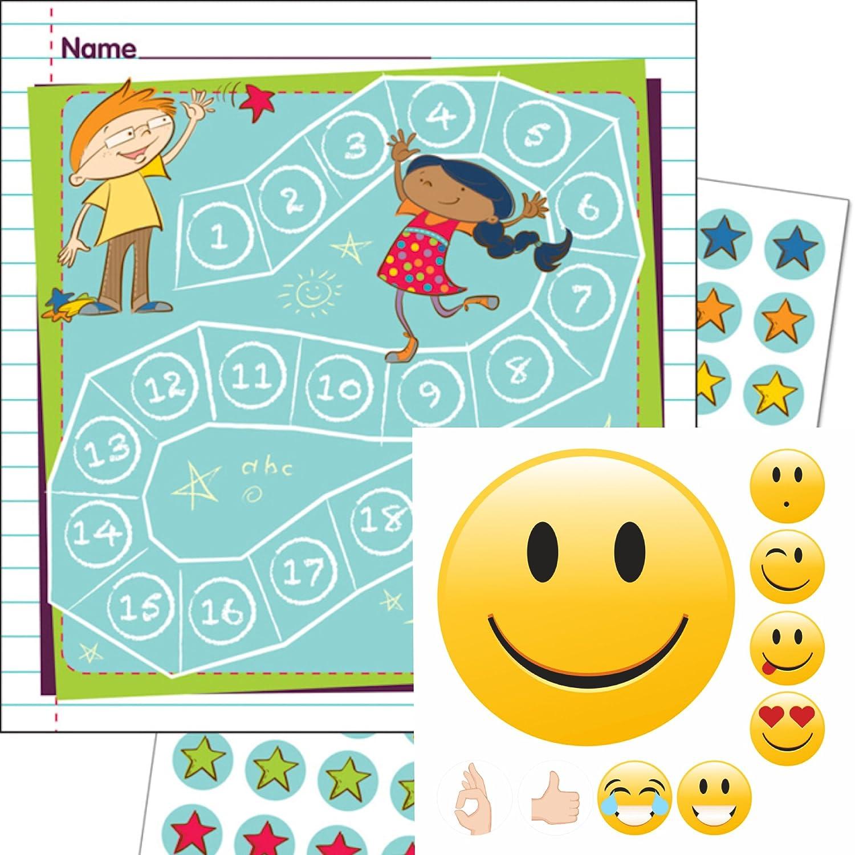 By Diana Belohnungssystem für Kids Thema spielende Kinder + Smileys Gut Gemacht mit ca. 150 Teilen - Motivation Lernziele mit Spass ✔️