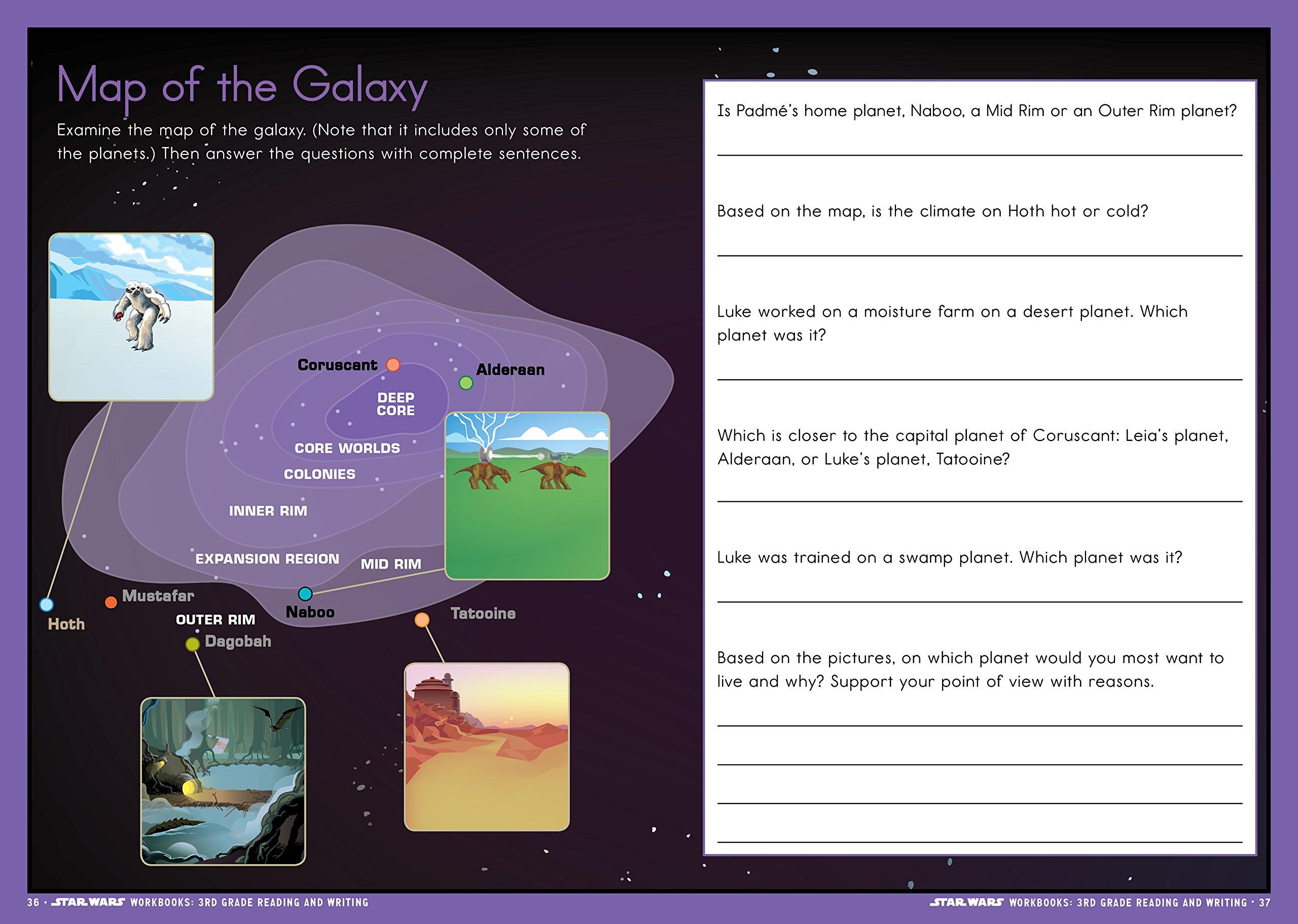 Star Wars Workbook: 3rd Grade Reading and Writing (Star Wars