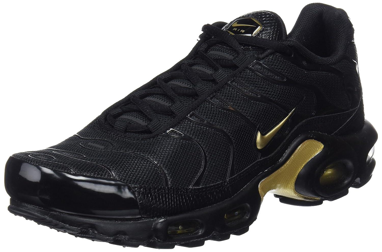 Nike Air MAX Plus, Entrenadores para Hombre 41 EU|Negro (Black/Mtlc Gold 022)