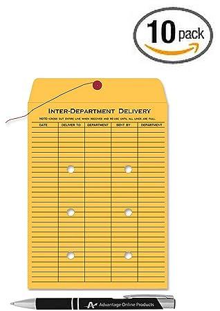 Amazon.com : 10 Pack Inter Office Inter-Departmental Envelopes ...
