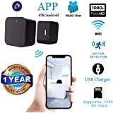 Hidden Wireless Spy Camera with USB Charger and Multi-User Access and Motion Detection | for Home, Office, Buisness, Nanny Security | Supports 128GB SD Card | 1080p Resolution | Cámara espía USB