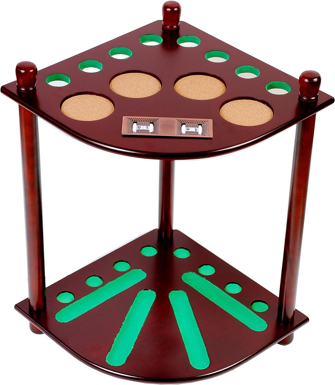 8 billar mesa de billar pelota piso Rack con goleador, acabado en caoba: Amazon.es: Deportes y aire libre