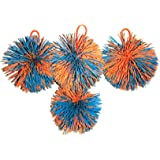 Sport Beats Outdoor Bouce-Back Paddle Game Ball, Trampoline ball,Set of 4