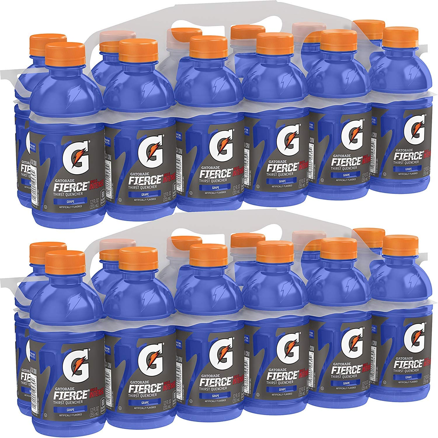 Gatorade Fierce Thirst Quencher, Grape, 12 Ounce Bottles (Pack of 24)