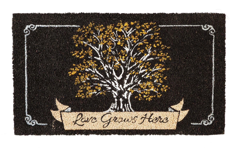 Evergreen Flag 2RM375 Love Grows Here Coir Mat, Multi-Colored Evergreen Enterprises