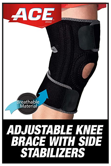 Ace Knee Brace With Dual Side Stabilizers Amazon In Sports Fitness Outdoors