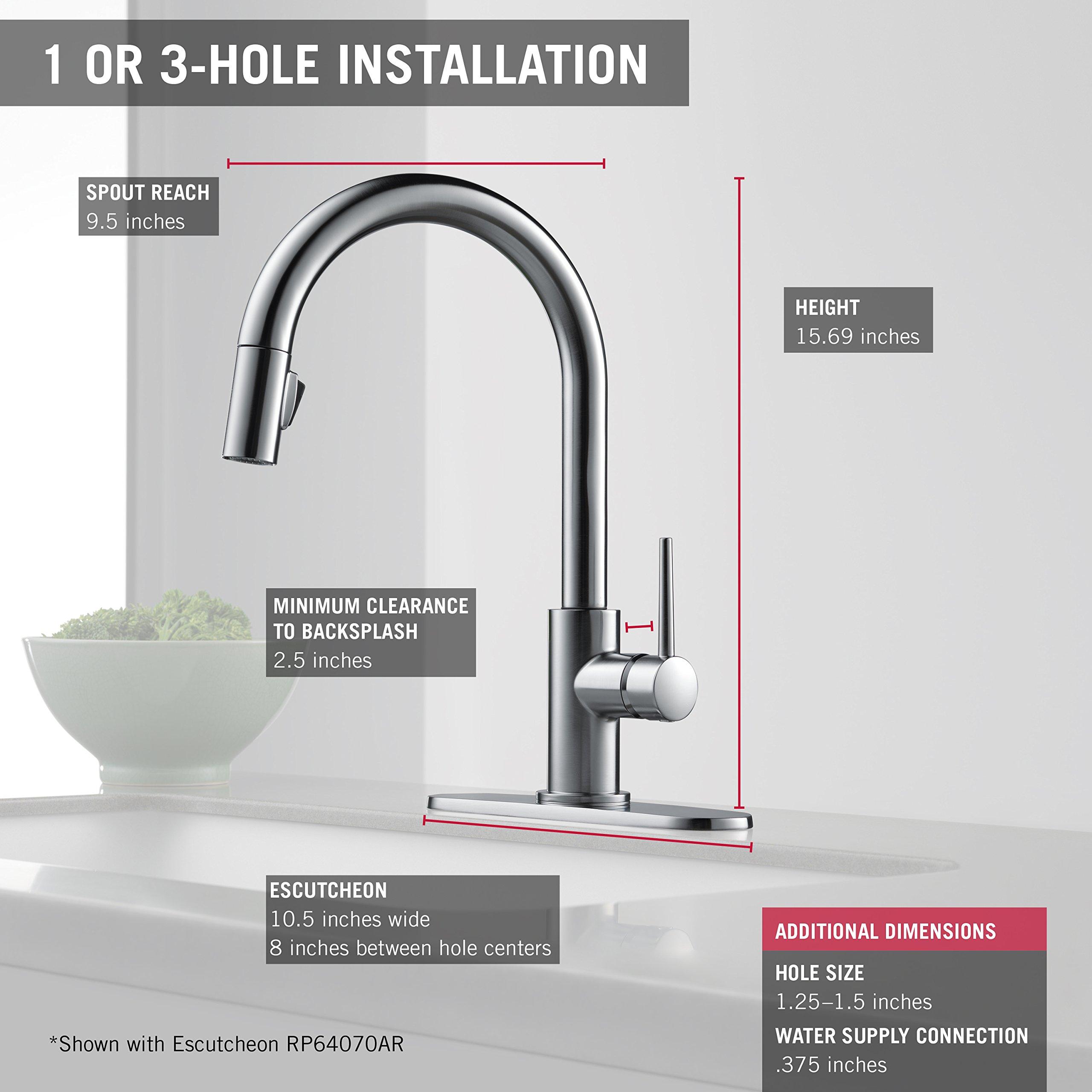 Delta Faucet 9159-CZ-DST Trinsic Single Handle Pull-Down Kitchen ...