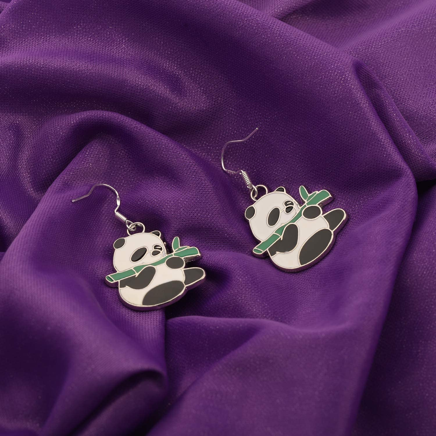 AKTAP Panda Necklace Panda Lover Gifts Infinity Y Necklace Cute Animal Panda Bear Jewelry for Mothers Day Birthday Gift BFF Jewelry