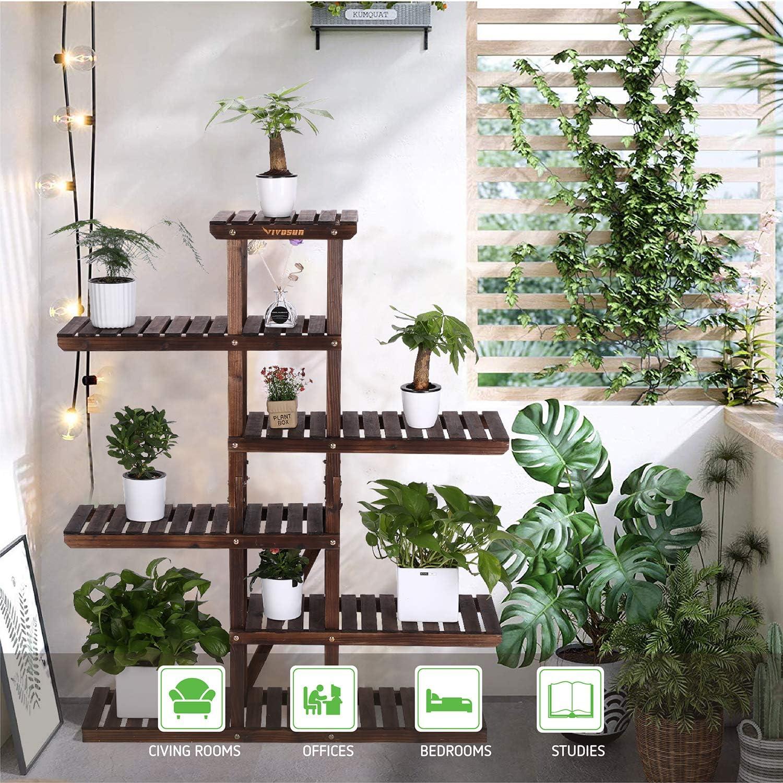 Vivosun Multi-Layer Wood Plant Stand