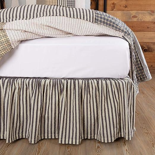 Amazon Com Vhc Brands Farmhouse Ashmont Grey Bed Skirt King 78x80x16 Home Kitchen