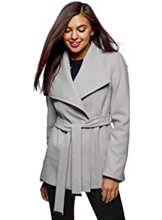 cf3eaf60d03c oodji Collection Donna Cappotto Trapuntato con Collo Alto  Amazon.it ...