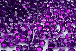 5000 pcs/Pack Wedding Table Scatter Confetti Crystals Acrylic Diamonds 6 mm Rhinestones for Wedding, Bridal Shower, Vase Beads Decorations (6mm, Dark Purple)