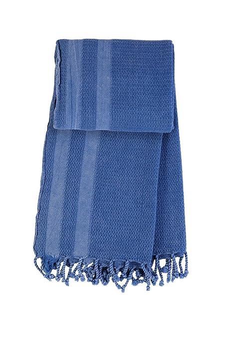 Explorer Stonewashed azul mano tejidas turco Pestemal Peshtemal toalla de baño hammam – Toalla de playa
