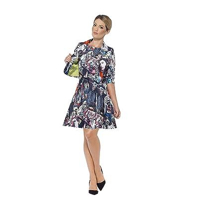 Ladies Multicolour Zombie Stand Out Suit Fancy Dress Costume: Toys & Games