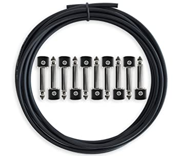 Kit de Cables para Pedalera Sin Soldadura de Crosby Audio – Cable de 10 pies y