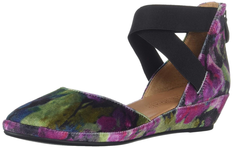 Dark Floral Velvet Gentle Souls Women's Noa Wedge with Anklestrap Platform