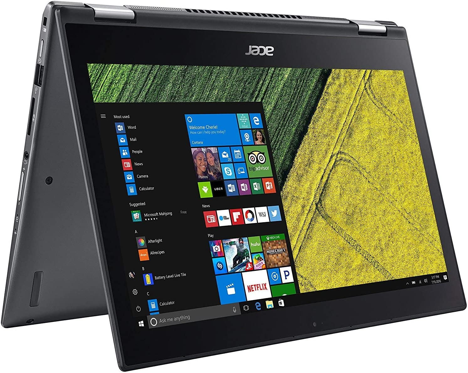 Acer Spin 5 SP513-52N Touch 2-1 Laptop 8th Gen. Intel Quad Core i7 up to 4GHz 8GB 256GB SSD 13.3in Full HD Fingerprint Reader Windows Ink HDMI Backlit Keyboard Webcam (Renewed)