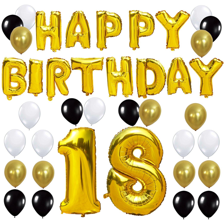 Amazon KUNGYO 18TH Birthday Party Decorations Kit