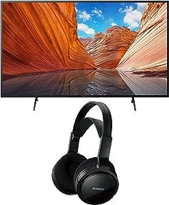 Sony KD50X80J BRAVIA 50-Inch 4K Ultra HD HDR LED Smart TV (2021 Model Year) Home Theater Headphones Bundle (2 Items)
