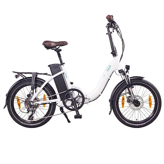 NCM Paris+ Bicicleta eléctrica Plegable, 250W, Batería 36V 19Ah • 684Wh (Blanco +): Amazon.es: Deportes y aire libre